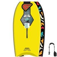 FLOOD Bodyboard Dynamx Stringer 41 Gelb Tribal