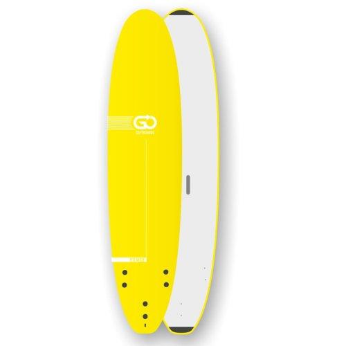 GO Softboard School Surfboard 9.0 wide body Gelb