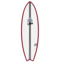 Surfboard CHANNEL ISLANDS X-lite Pod Mod 6.2 Rot