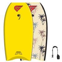 FLOOD Bodyboard Dynamx Stringer 41 Gelb Palm