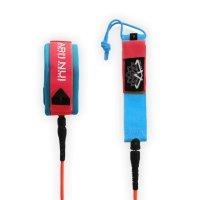 ARIINUI SUP coiled knee Leash 9.0 Red Blue