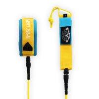 ARIINUI SUP coiled knee Leash 9.0 Yellow Blue