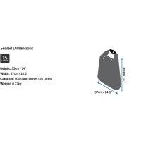OverBoard wasserdichte Tasche 15 Liter Schwarz