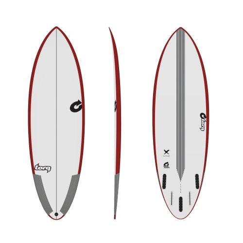 Surfboard TORQ TEC Multiplier 6.4 rail red
