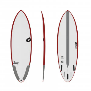 Surfboard TORQ Epoxy TEC Multiplier 6.4 Rail Rot